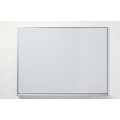 Claridge Products Special Low Gloss Deluxe Wall Mounted Magnetic Whiteboard, 4' x 6'