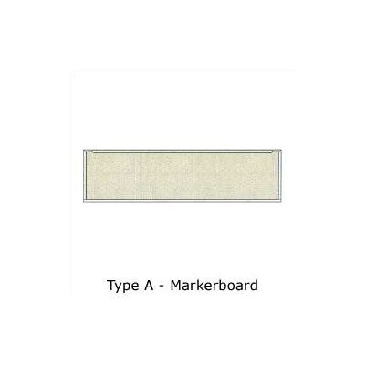 Claridge Products Series 800 Wall Mounted Enclosed Whiteboard, 4' x 16'
