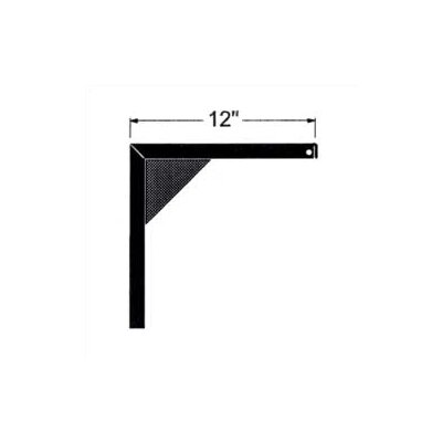 """Claridge Products 12"""" Non-Adjustable Screen Mounting Brackets (pair)"""