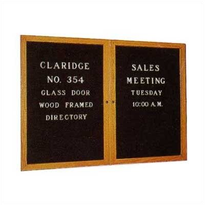 Claridge Products No. 3054 Wood Framed Glass Door Directory