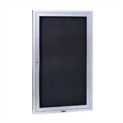 "Claridge Products Large Contemporary Series (4"" Housing) Wall Mounted Bulletin Board with Designer Fabric"