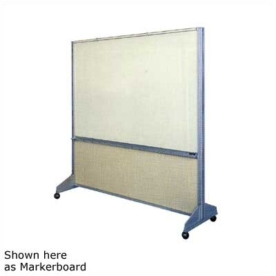 Claridge Products Premiere Room Divider Free Standing Combination Bulletin Board