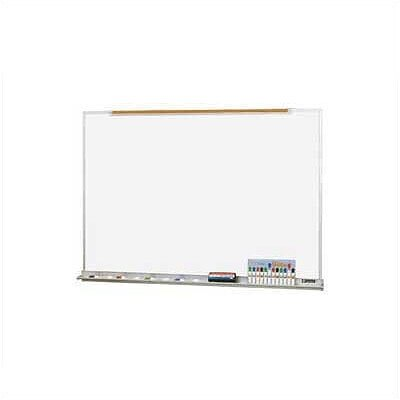 Claridge Products Deluxe Wall Mounted Magnetic Whiteboard, 4' x 6'