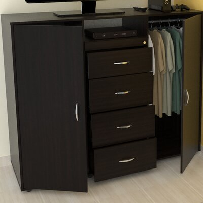 """57"""" TV Stand with Armoire by Inval"""