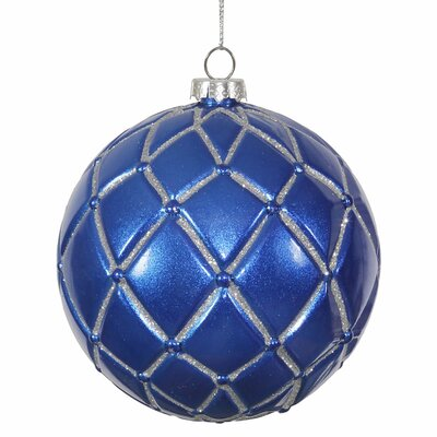 Glitter Net Ball Christmas Ornament