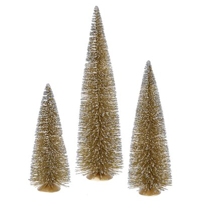 Whimsical Gold Mini Village Artificial Christmas Tree by Vickerman