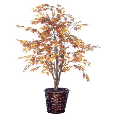 """Vickerman Co. Deluxe 48"""" Artificial Potted Natural Birch Tree in Gold"""