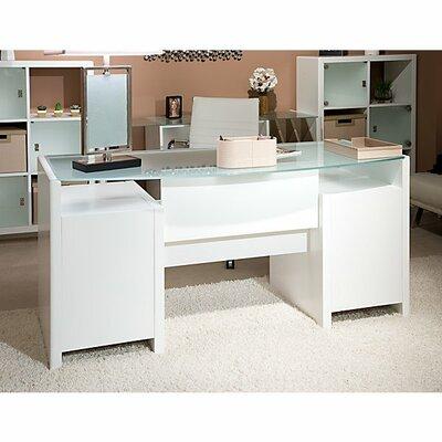 Kathy Ireland Office by Bush New York Skyline Bow Front Executive Desk