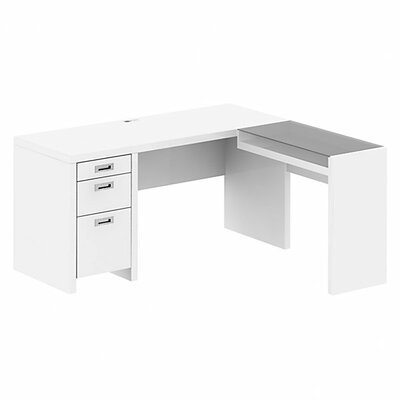 New York Skyline Executive Desk with Glass Return by Kathy Ireland Office by Bush