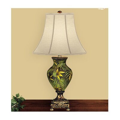 Jb Hirsch Palm 31 H Table Lamp With Bell Shade Reviews Wayfair