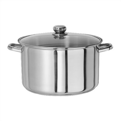 Kinetic Classicor 8-Quart Stainless Steel Stockpot with Tempered Glass Lid