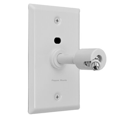 Pinpoint Mounts Universal Speaker Wall/Ceiling Mount with Electrical Box Installation Adapter Plate in White
