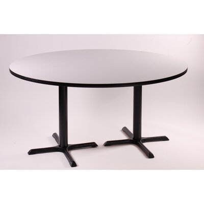 "Correll, Inc. 29"" High Round Bar and Café Table with 2 Cross Bases and 2 Columns"