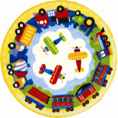 Fun Rugs Olive Kids Trains, Planes and Trucks Area Rug