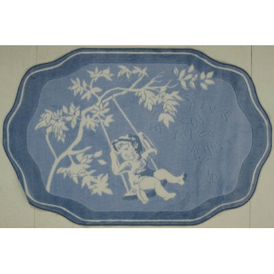 Supreme Blue Toile Brown/Blue Area Rug by Fun Rugs