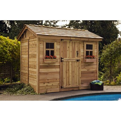 Cabana 9 Ft. W x 6 Ft. D Wood Garden Shed   Wayfair on Outdoor Living Today Cabana id=62879