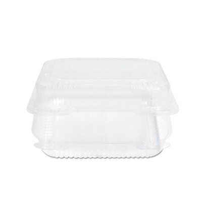 """DART® 3"""" Staylock Hinged Container Plastic 125/Bag in Clear"""