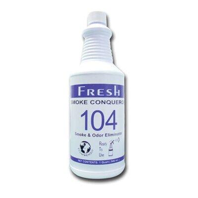FRESH PRODUCTS 1 Gallon Smoke Conqueror 104 Smoke and Odor Eliminator