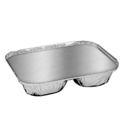 HANDI-FOIL® Aluminum 3 Compartment Oblong Container with Lid