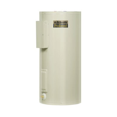 A.O. Smith Commercial Tank Type Water Heater Light Duty Electric 50 Gal Dura-Powered Preferred 12KW Input