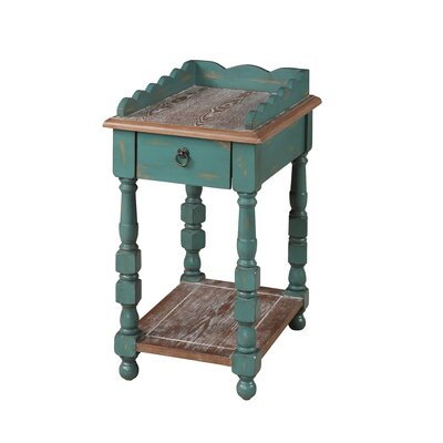 Gail's Accents Cottage Spool End Table