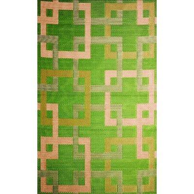 b.b.begonia Squares Reversible Design Green/Beige Outdoor Area Rug
