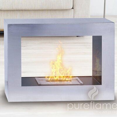 Window Flame Bio Ethanol Fireplace by PureFlame