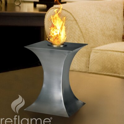 Concave Tabletop Bio Ethanol Fireplace by Aquafires