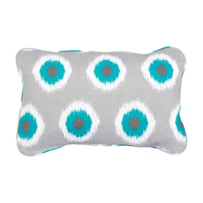Stella Teal Ikat Dots Indoor/Outdoor Throw Pillow by Mozaic Company
