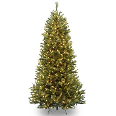 National Tree Co Rocky Ridge 7 39 Green Slim Pine Artificial Christmas Tree With 550 Clear Lights