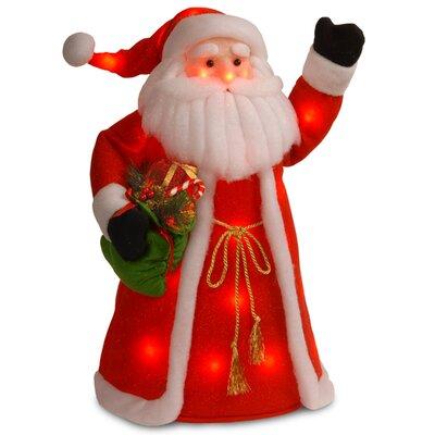 National Tree Co. Decorative Décor Pre-Lit Standing Santa Christmas Decoration