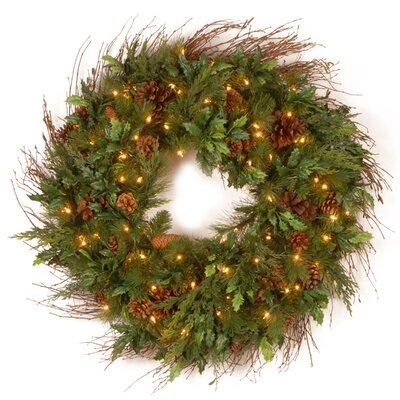 National Tree Co. Pre-Lit Juniper Mix Pine Wreath