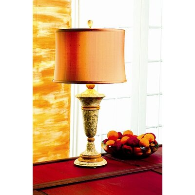 "Lex Lighting Fossil and Caramel 32"" H Table Lamp with Drum Shade"