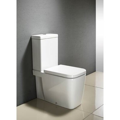 GSI Collection Traccia Contemporary Ceramic Floor Mounted Round 2 Piece Toilet