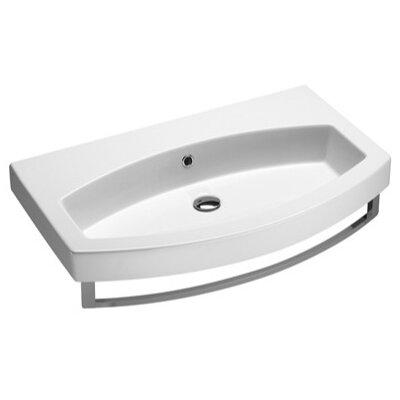 GSI Collection Losagna Contemporary Design Curved Ceramic Sink