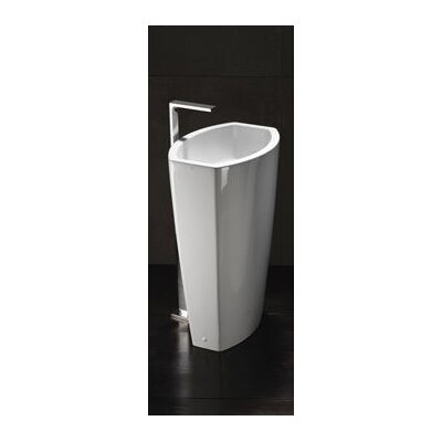 Losagna Oval Stylish Ceramic Floor Bathroom Sink by GSI Collection