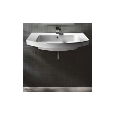GSI Collection Modo Contemporary Stylish Design Curved Bathroom Sink