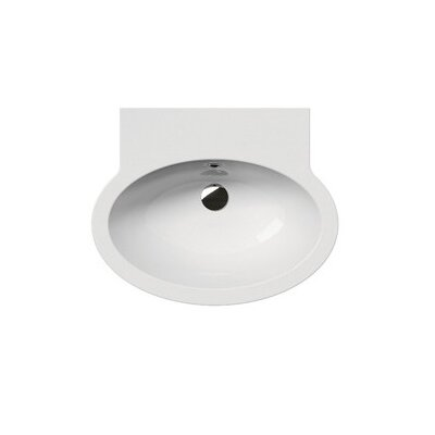 Panorama Contemporary Oval-Shaped Wall Mounted Bathroom Sink by GSI Collection