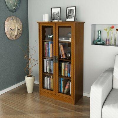 altra glass door bookcase reviews wayfair. Black Bedroom Furniture Sets. Home Design Ideas