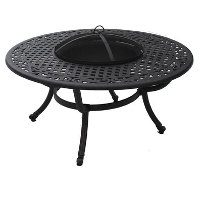 Sasha Wood Burning Fire Pit Table by Paragon Casual