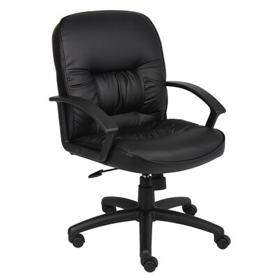 Boss Office Products Mid-Back Leather Ergonomic Conference Chair