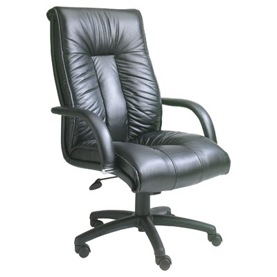 Boss Office Products Contemporary High-Back Italian Leather Executive Chair