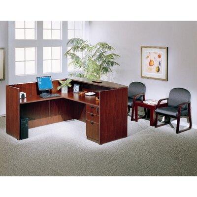 Boss Office Products L-Shape Reception Desk