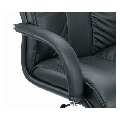 Boss Office Products Contemporary Mid-Back Leather Conference Chair