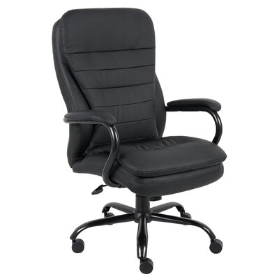 Boss Office Products High-Back Heavy Duty Double Plush Caressoft Executive Chair