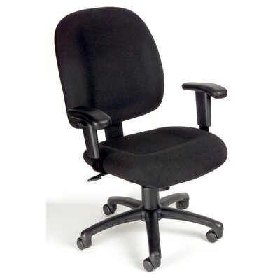 Boss Office Products Mid-Back Ergonomic Task Chair with Tilt Tension Control