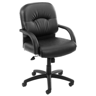 Boss Office Products Mid Back Caressoft Conference Chair