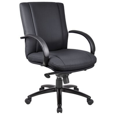Boss Office Products Aaria Elektra Mid-Back Conference Chair with Arms