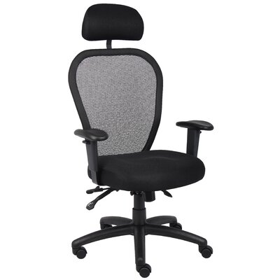 Boss Office Products High-Back Mesh Office Chair with Headrest