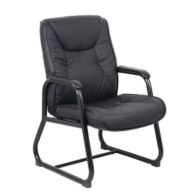 Boss Office Products High-Back Leather Guest Chair